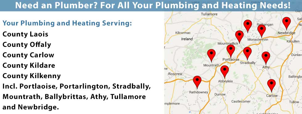 We provide power flushing and plumbing services in Co. Laois including Portlaoise, Portarlington, Mountmellick, Monasterevin, Mountrath, Ballybrittas, Athy, Tullamore, Roscrea, Abbeyleix, Newbridge and Carlow. We also offer power flushing in Co. Tipperary, Co. Offaly, Co. Kildare and Co. Offaly. Call us today on 0857309375