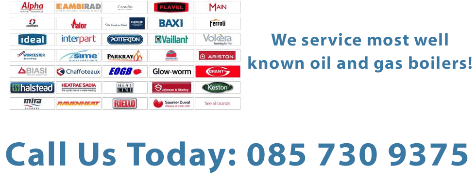 We services all types of Oil and Gas boilers in Co.Laois including Alpha Boilers, Ariston Boilers, Baxi Boilers, Biasi  Boilers, Buderus Boilers, Chaffoteaux & Maury Boilers, Glow-worm Boilers, Heatline Boilers, Ideal Boilers, Keston Boilers, Baxi Potterton, Saunier Duval Boilers, Vaillant Boilers, Viessmann Boilers, Vokèra Boilers, Worcester Bosch Boilers.